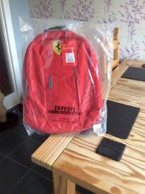 Ferrari backpack,satchel, rucksack,schoolbag