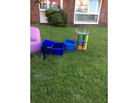 FREE Stuff Table welly boots Boxes Exercise bench tub chair