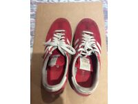 Adidas Dragon red trainers size 8