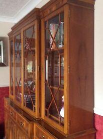 Break front Bookcase/Cupboard