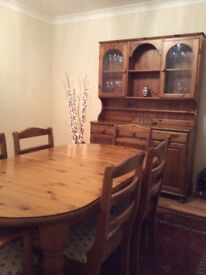 Ducal dresser and extending dinning table with 6 chairs