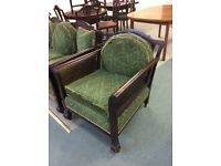 Two Bergere armchairs : free Glasgow delivery