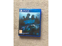 NEED FOR SPEED PS4 LIKE NEW
