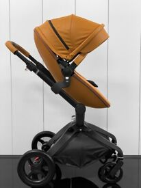 NEW BROWN TRAVEL SYSTEM STROLLER PUSHCHAIR CARRYCOT MIMA XARI EGG ICANDY CYBEX ICANDY 3IN1 2IN1