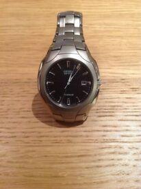 Men's Citizen Eco-Drive Titanium Watch - great condition