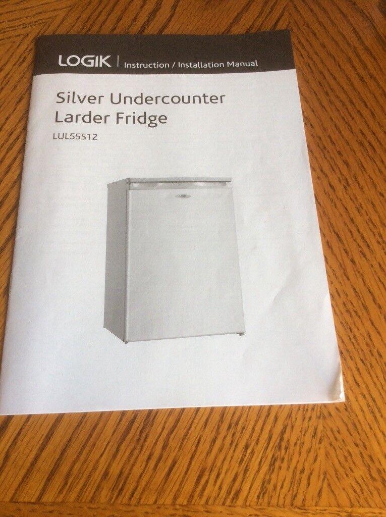 Silver undercounter larder fridge