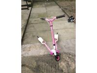 Pink and White Flicker Scooter