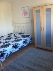Furnished double and single room for rent