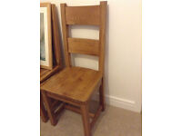 Prestige Oak dining chairs x6 excellent condition