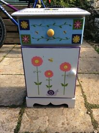 Hand painted French bedside table