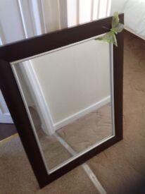 Brown painted mirror
