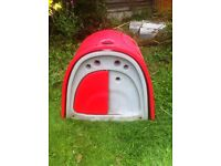 OMLET EGLU CLASSIC chicken coop IN RED AND 2m RUN