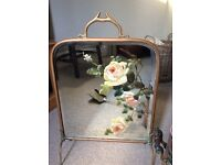 Shabby chic mirrored fire screen