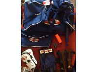 Kickmaster football kit bag with accessories