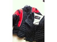 Akito motorbike jacket. Red and black design. Size xl. Excellent condition.
