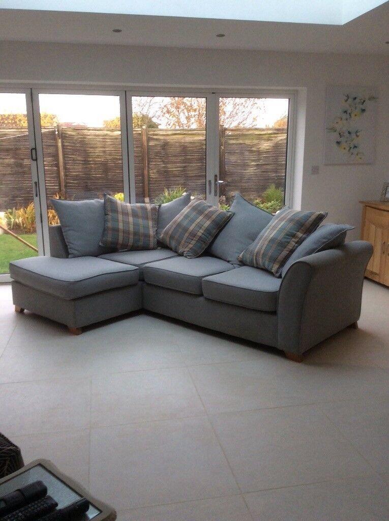 Dfs Corner Sofa In Duck Egg Blue