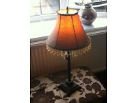base metal. table lamp. living/dining room