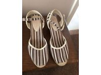 Size 6 Canvas Boden Shoes with wedge heel