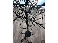 Black indoor tree light