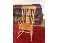 Pine rocking chair