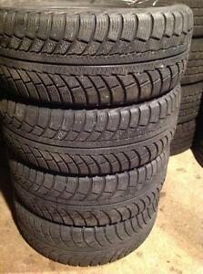 4 pneus 205/55 r16 d'hiver gislaved nord frost 5.    125$