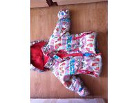 Baby girls winter jacket (size 12 months) for sale.In excellent condition.