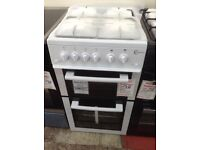 Flavel white gas cooker. 4 burner gas hob. 50cm. New/graded 12 month Gtee