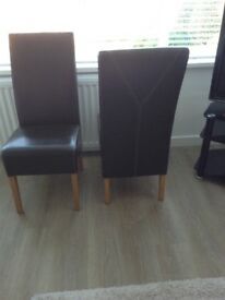 4 x G Plan Dinning Chairs. Leather/Immaculate/Just like new