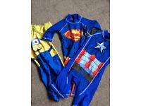 Three UV 50+ protection swimsuits aged 4-5 yrs