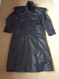 Gents Calf Length Soft Leather Coat
