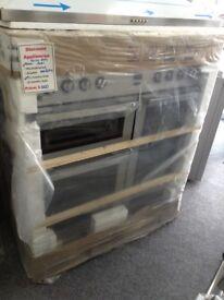 Flavel 90cm duel fuel stainless steel range. RRP £699 12 month Gtee