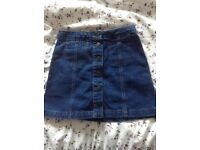 Top shop denim skirt