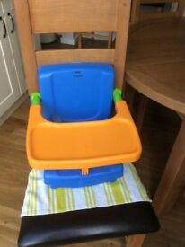 4 - position portable booster seat. Ideal for home and travel.