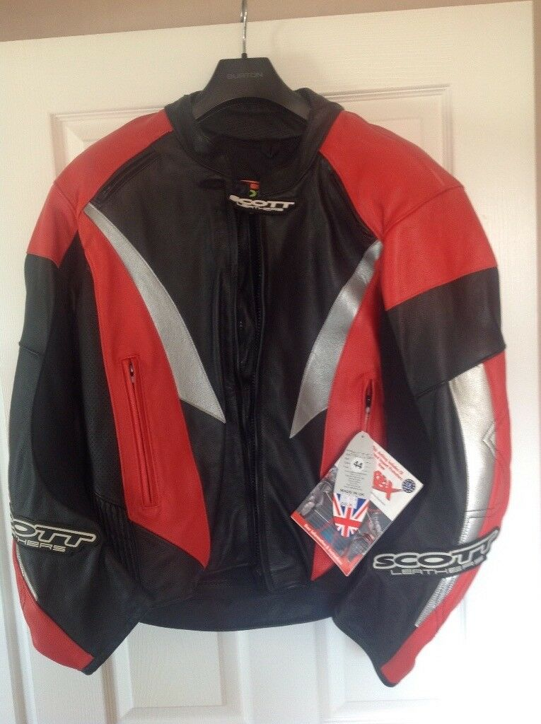 SCOTT LEATHER, VENOM MOTORCYCLE JACKET NEW WITH TAGS UK 44