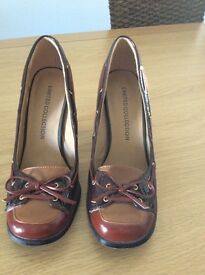 Limited collection (m and s) leather shoes size 6