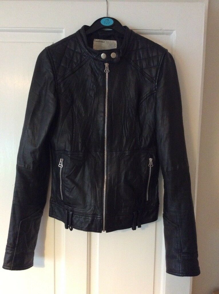 Real leather jacket - size 10