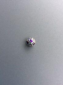 Pandora silver and purple charm