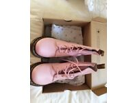 Dr Martin baby pink boots