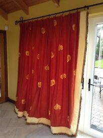 Quality made curtains linen mix for large window