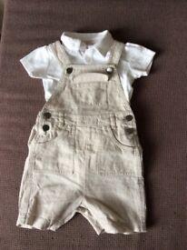 Dungaree shorts 6-9 months