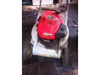 Garden things lawn mower and strimmer