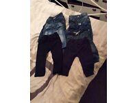 Next boys jeans/trousers bundle age 9-12 months