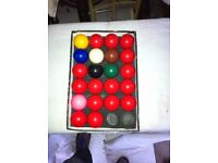 Full Set of Snooker Balls