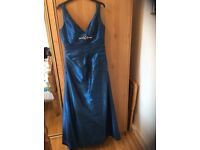 Kingfisher blue bridesmaid dress or prom dress