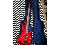Yamaha RBX-374 bass, hard case, Brighton