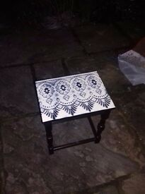 Patterned tables for sales, decoration is unique