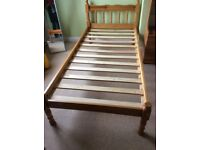 Single bed frame and mattress X2