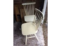 1960's dining chairs two
