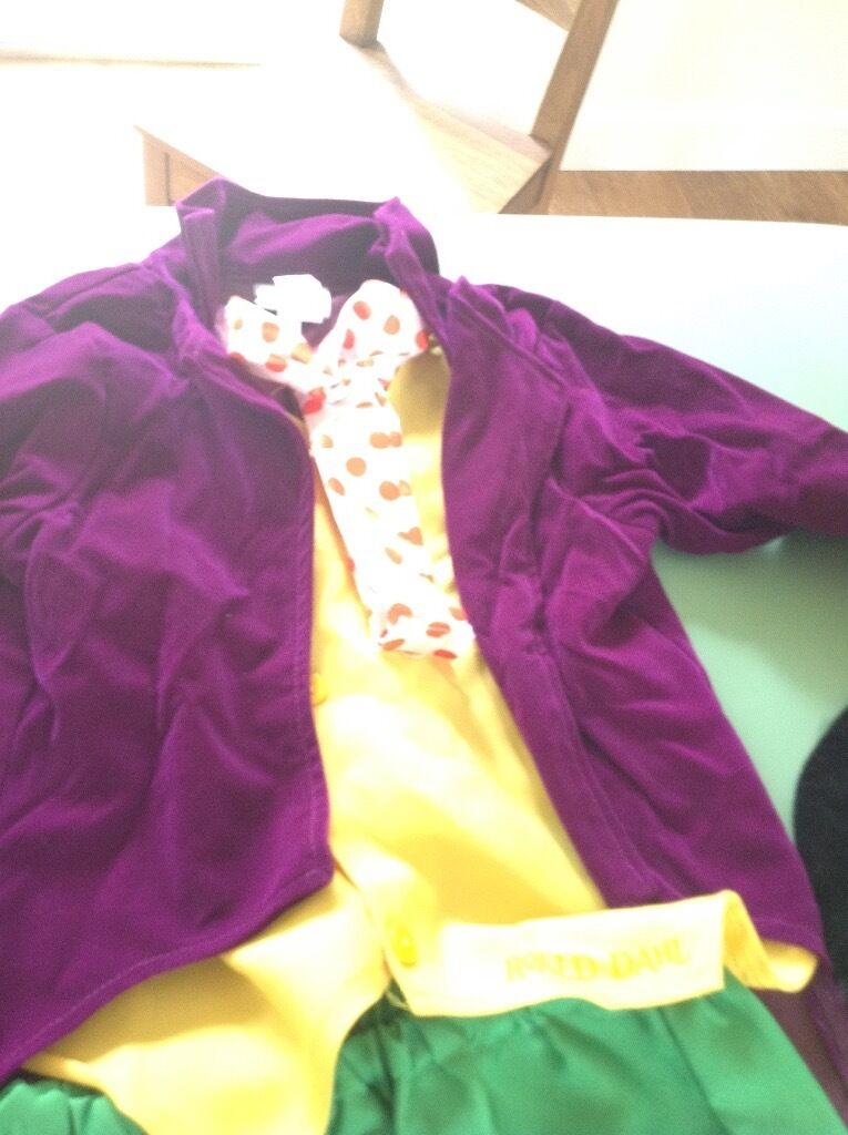 Willy Wonka Fancy Dress Costume Kids 7 9in Norwich, NorfolkGumtree - Kids Willy Wonka Costume 7 9 Trousers, jacket, hat, cane, bow New out of packet but not worn