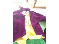 Willy Wonka Fancy Dress Costume Kids 7-9